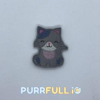 Ujjbáb - szürke cica