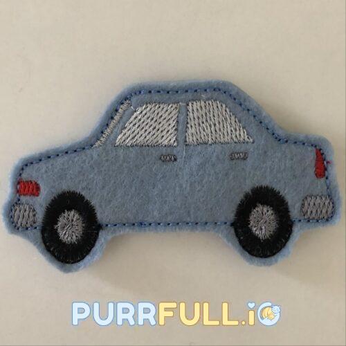 Autó (kék) - ujjbáb