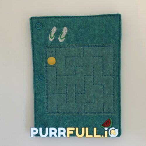 Csendeskönyv lap - labirintus (tengeri)