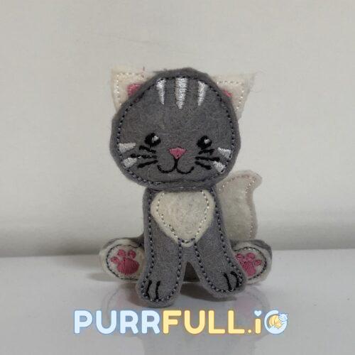Cica (szürke) - 3D